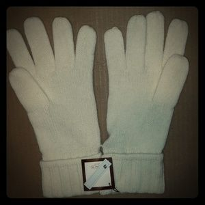 NWT Womens Coach Ivory Gloves-One Size Fits All